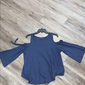 Express Cold Shoulder Flowy Top Small